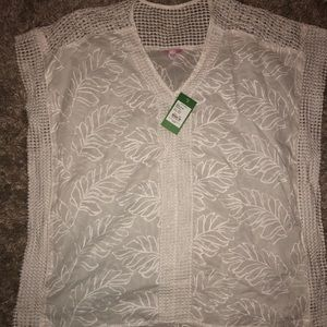 NWT Lilly Pulitzer White cover up